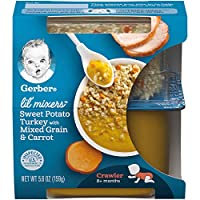 Gerber Purees Crawler Lil' Mixers Rice & Quinoa With Sweet Potato Turkey Mixed Grain...