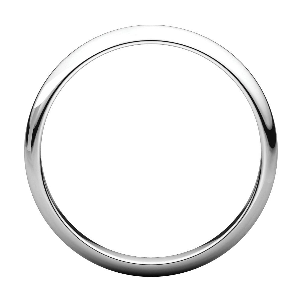 Jewels By Lux 14K White Gold 4mm Half Round Light Wedding Ring Band