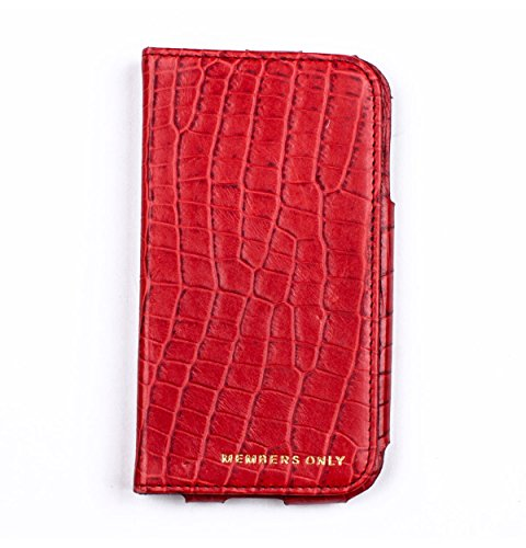 Members Only Cell Phone Case for Samsung Galaxy S4 - Retail Packaging - Red