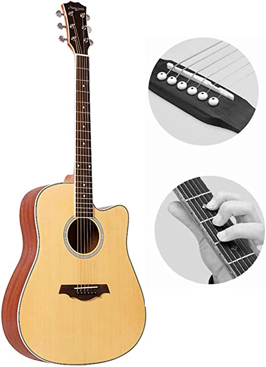 BAIYING-Guitarra Acústica Guitarra Clasica Principiante Guitarra ...