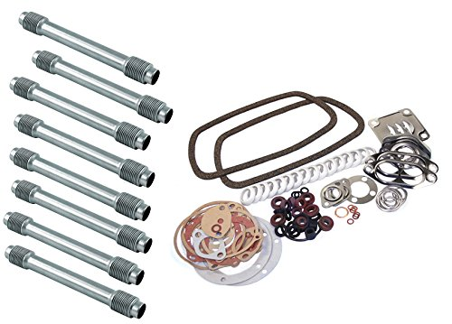 VW BUG, BEETLE, GHIA, BUS, TYPE 3 GASKET KIT AND PUSH ROD TUBE SET, FOR 1300-1600CC AIR-COOLED MOTOR