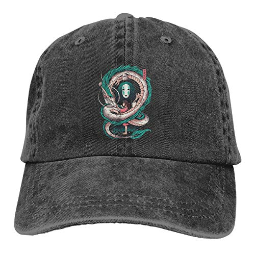 (Men&Women Spirited Away Art Cotton Hat Cowboy Hat Baseball Caps Black)