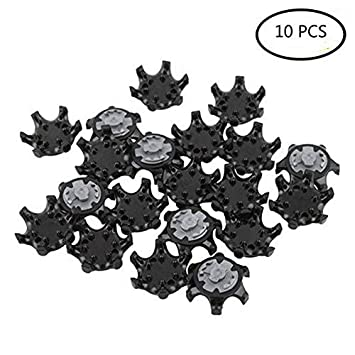 10pcs Golf Shoes Black Spikes THiNTech Spike Replacement Cleats PINS Golf  Shoes b5388e776