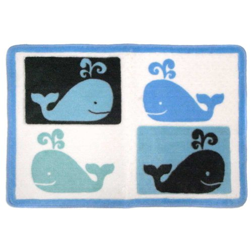 Allure Home Creations Whale Watch Printed Acrylic Rug