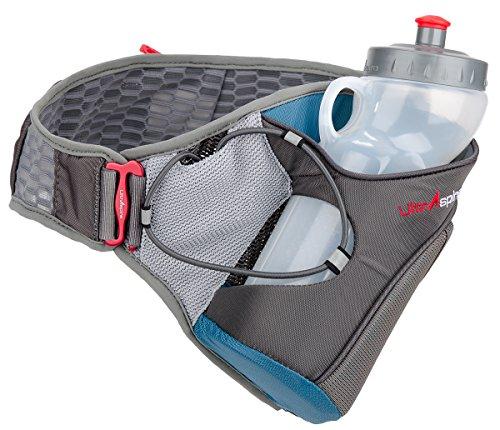 Cheap UltrAspire Nerve Hydration Running MBS Waist Belt Pack with 20 oz Bottle, Blue (X-Small)