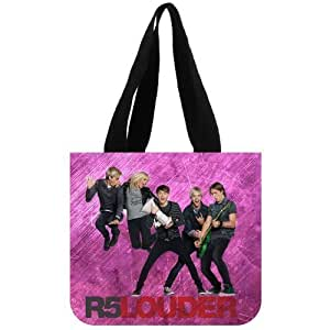 R5 (band) Tote Bag Alternative Rock And Pop Rock Band Ross Lynch Riker Lynch Cotton Canvas Tote Bags Shopping Bag 12.2 x 11 x 3.3