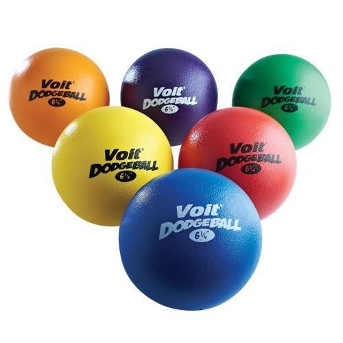 Voit Tuff Dodgeballs (Prism Pack), 6 1/4-Inch (Voit Ball Foam)