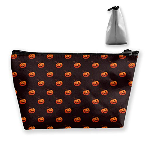 Halloween Pumpkin Pattern Small Travel Makeup Pouch Toiletries Storage Organizer Bags
