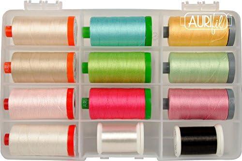 Karen L Miller The Subtle Sampler Aurifil Thread Kit 12 Mixed Large Spools KM5WSS12