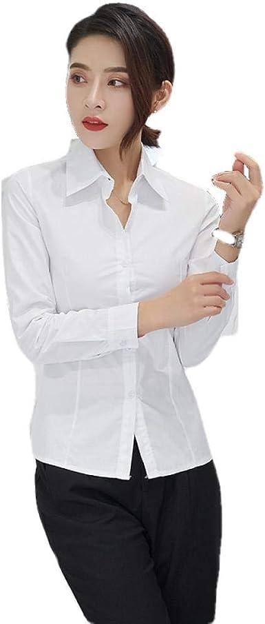 Blusas Y Camisas para Mujer Camisa Blanca Mujer Manga Larga Delgada: Amazon.es: Ropa y accesorios