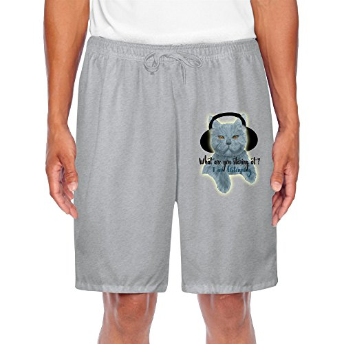 Personalized Men's Short Sweatpants Cheshire Cat,What Are You Staring At For Simple Sport