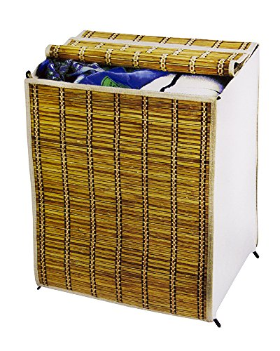 Collapsible Bamboo Laundry Hamper Cover