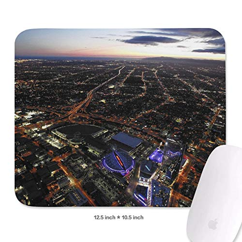 La_Bron_Yellow_Logo_Basketball 10.5x12.5Inch 10.5x12.5 Inch Black Custom Large Non-Slip Rubber CF Gamer Mouse Mat Mouse Pads