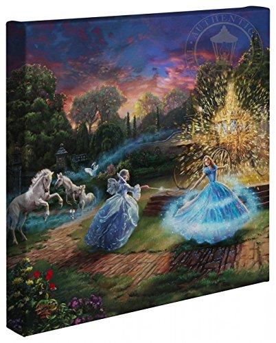 Thomas Kinkade Studios Cinderella Wishes Granted 14 x 14 Gallery Wrapped Canvas