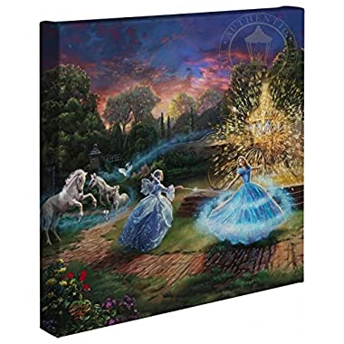 Cinderella Wishes Granted - Thomas Kinkade Studios Disney Gallery Wrapped Canvas