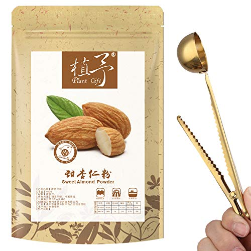 100% Plant Gift Sweet Almond Powder - Extra Fine Ground - Pure Antioxidants Superfood Boost Digestion Weight Loss - for Smoothie Beverage 100G