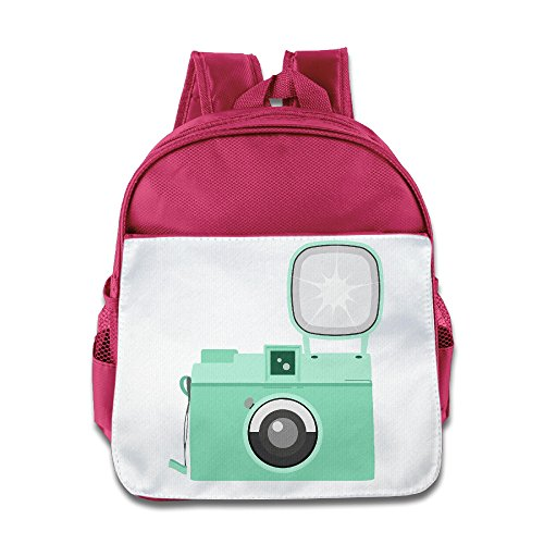 LINNA Cute Cute Cartoon Camera Clip Art Children School Bagpack Bag For 1-6 Years Old Pink