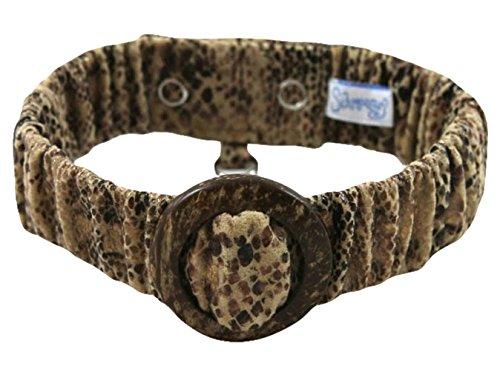 Schmoozies Faux Snakeskin Aromatherapy Pet Collar, Large
