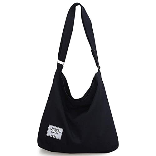 0a8920ed2d90 Amazon.com  Women s Canvas Hobo Handbags Large Canvas Tote Bag Casual Tote  Purse Shoulder Bag for Women  Shoes