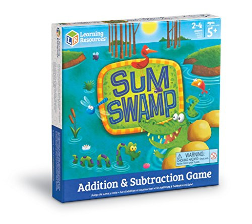 51Dz56CCnIL - Learning Resources Sum Swamp Game, 8 Pieces