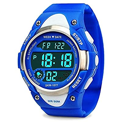 Boys Sport Digital Watch, Kids Outdoor Waterproof Electronic Watches with LED Alarm Stopwatch by cofuo
