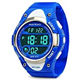 Boys Digital Sport Watch, Kids Outdoor Waterproof Electronic Analogue Watches Girls LED Alarm Stopwatch Back Light Timer for Youth Childrens - Blue