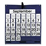 Carson-Dellosa Publishing Monthly Calendar Pocket Chart CALENDAR,MNTHLY,PCKT,HANG (Pack of5) by CARDEL