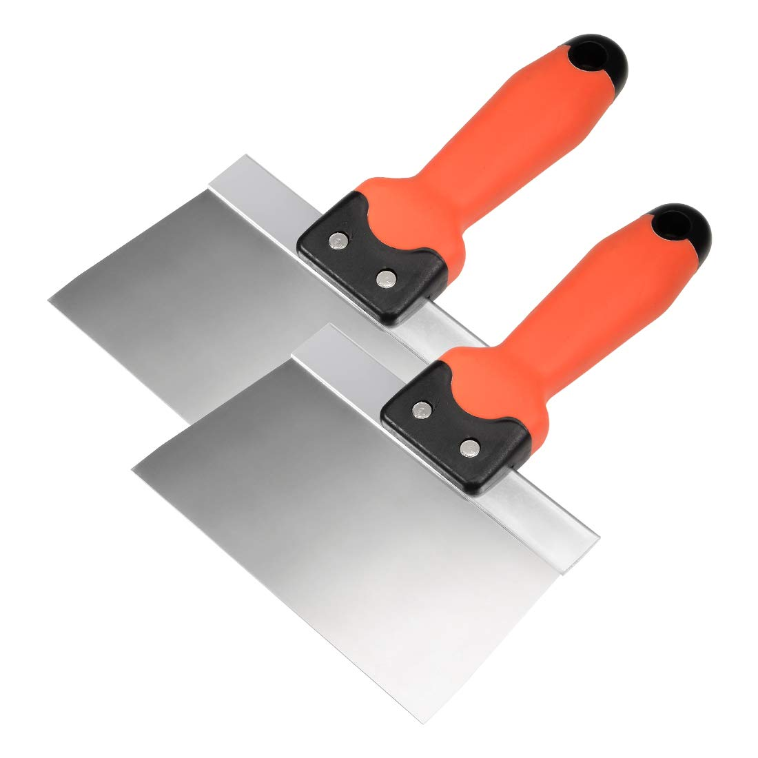 uxcell/® Putty Taping Paint Scraper 8 Stainless Steel Broad Blade with Plastic Ergonomic Handle for Wall Floor Tile