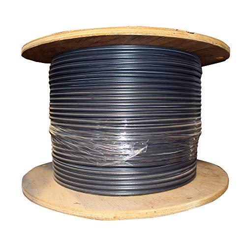 (Commscope 770021003 Coaxial RG6 Drop Cable, Fiber Tracer, 18-AWG, CATV SATV, Black, 1000-Ft )