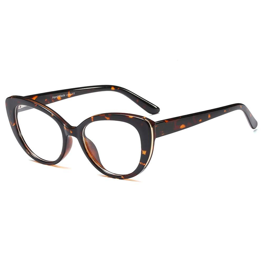 Womens Quality Readers Stylish Oversized Cat Eye Custom Reading Glasses (Leopard, 1.0) by Jurchio