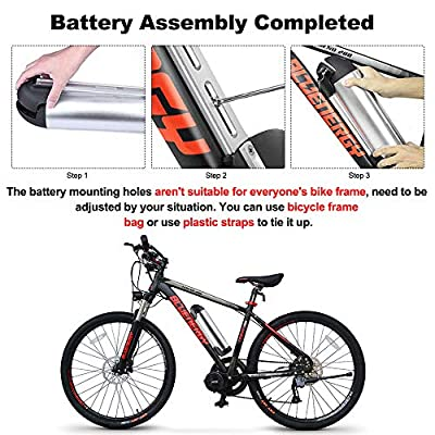 JUNSTAR Electric Bike Kettle Battery 48V 10Ah Lithium Ion Battery Water Bottle Shape Rechargeable Li-ion Battery for 250W 350W 500W Motor(with Charger) (48V 10Ah) : Sports & Outdoors