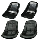 LOW BACK SEAT SHELLS, Impact Plastic, With Black Covers Pair, Dunebuggy & VW