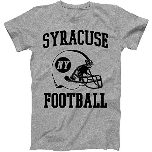 Vintage Football City Syracuse Shirt for State New York with NY on Retro Helmet Style Grey Size Large