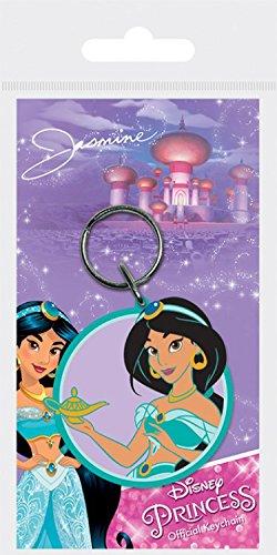 1art1 Disney Princess Keychain Keyring for Fans - Jasmine (2 x 2 inches)