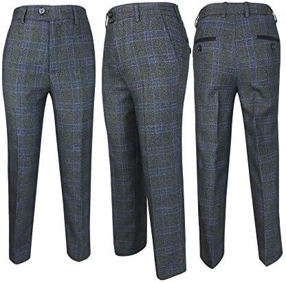 Romano 50064 Los exclusivos Trajes de diseño Plaid Tweed Slim fit ...