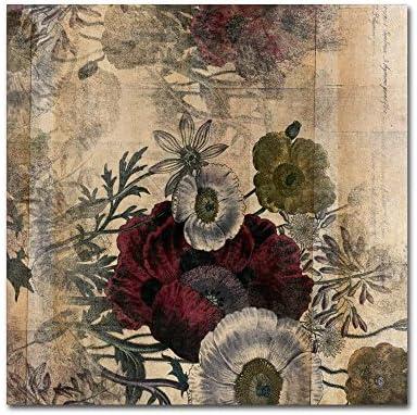 Floral Collage Burgundy Bloom