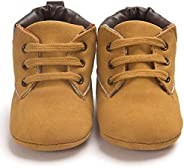 Shan-S Baby Booties for Boys Girls, Infant High-top Sneaker Brown Warm Shoes Boots Toddler Shoes Soft Anti-Sli