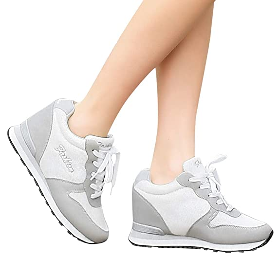 04535b46520ba Amazon.com: Goddessvan Wedge Sneakers for Women - Ladies Hidden ...