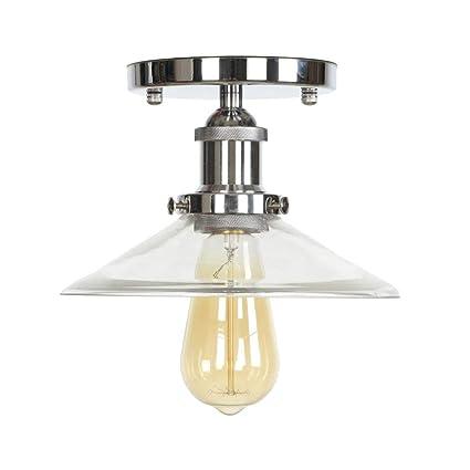 Ganeep Loft Industrial Decor LED Lámpara de Techo para Sala ...