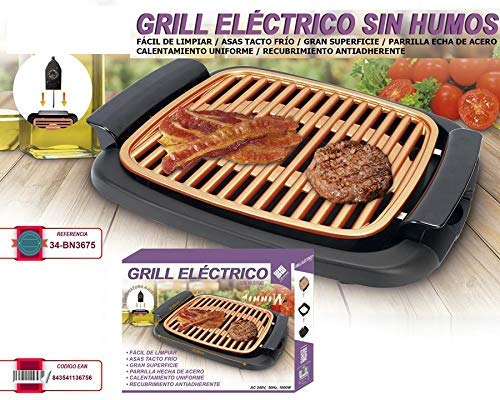 WEME Barbecue Plate Fast BBQ Smokeless Grill with Temperature Dial Heated Grilling Grate Made of Ti-cerama