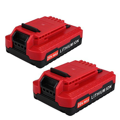 Biswaye 2 Pack 2.0AH 20V MAX Replacement Lithium Ion Battery for Porter Cable 20V Cordless Power Tools Battery PCC685L PCC680L PCC682L -
