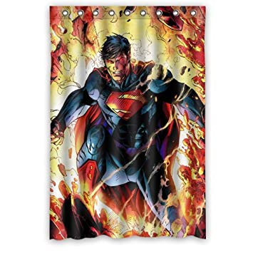 Personalized Custom Fashion Superman Shower Curtain Bathroom Decoration Mildew Waterproof Polyester Fabric Curtains 48quot