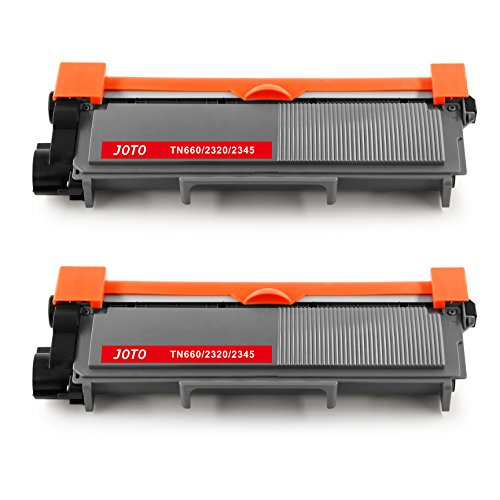 JOTO 2 Pack TN660 Compatible Toner Cartridge Replacement for Brother TN660 TN-660 TN 660 TN630 TN-630 High Yield for Brother HL-2340DW HL-2380DW HL-2300D DCP-L2540DW DCP-L2520DW MFC-L2740DW