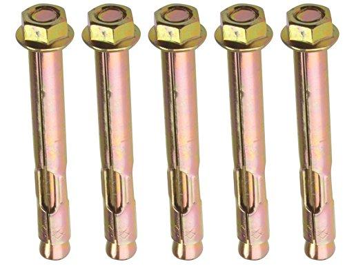 AHC k-zyslahn10125b5 M10 x 125 mm Sechskantmutter Sleeve Anchor –  Zink/gelb (5 Stü ck)