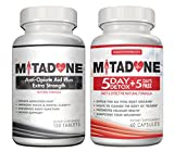 Mitadone Anti Opiate Aid Plus Extra Strength Natural Withdrawal & Detox Combo (180 Count) Vicodin Percocet Methodone Suboxone Oxycontin Codeine Hydrocodone Oxycodone Morphine Heroin other Painkillers