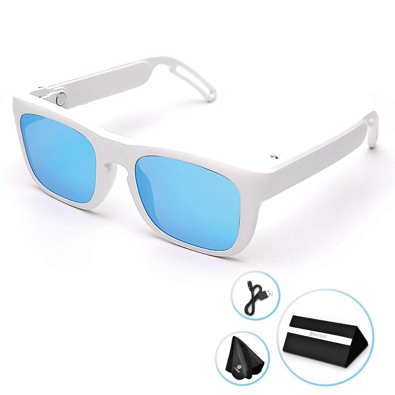 Orange Mutrics Stylish Smart Music Sunglasses with Virtual 5.1 Surround Sound Audio Bluetooth Sunglasses for Men Hands Free Call AI Voice Control UV 400 Polarized Lens /& IP56 Sweat Resistant