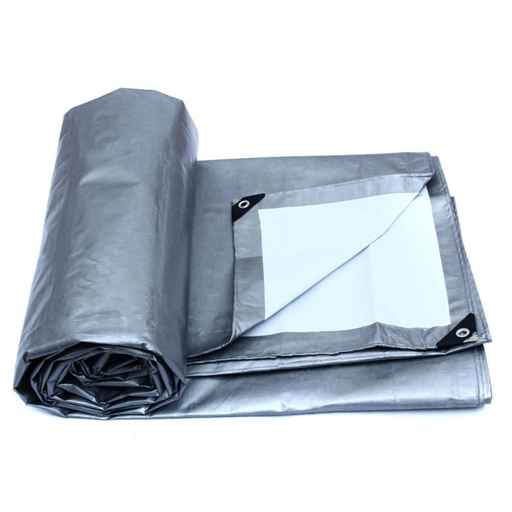 DLDL BÂche imperméable Grande bÂche Robuste imperméable Couverture de remorque de Tente au Sol réversible dans 175G   M² (Taille   5m×6m)  5m×6m