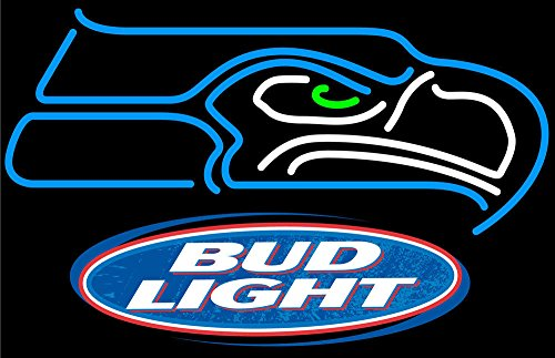 """Desung Brand New 24""""x20"""" Sports Team SS Logo B ud Light Neon Sign (Various sizes) Beer Bar Pub Man Cave Business Glass Neon Lamp Light DC267"""