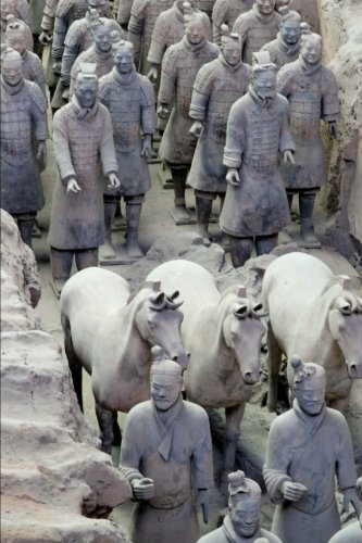 So Cool Terracotta Warriors and Horse Statues in Xian China Journal: 150 Page Lined Notebook/Diary - Terra Cotta Warriors Xian China