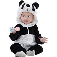 MICHLEY Baby Flanell Winter Strampler Bekleidung, Mädchen und Junge Karikatur Tier Jumpsuit Spielanzug